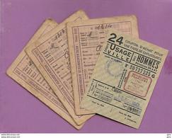 Lot De 3 Cartes Individuelle D'alimentation * Un Coupon Pour Une Paire De Chaussure - Documents Historiques
