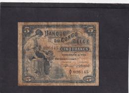 Belgian Congo  Kongo  5 Fr 1947 Good - Otros – Africa