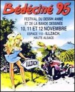 BEDECINE 1995 ILLZACH Autocollant Adhésif DANY Pour Olivier RAMEAU Au Format Carte Postale - Zelfklevers