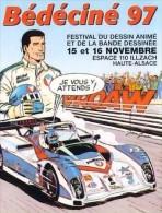 BEDECINE 1997 à ILLZACH Adhésif Autocollant De L'affiche Dessinée Par GRATON Avec Michel VAILLANT (1) - Zelfklevers