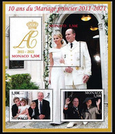 Monaco 2021 - 10ème Anniversaire Du Mariage Princier ** - Unused Stamps