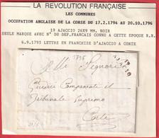 MARQUE 19 AJACCIO 1795 OCCUPATION ANGLAISE POUR CORTE CORSE - 1801-1848: Precursors XIX