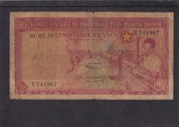 Belgian Congo  Kongo 50 Fr 1959 Vg - Otros – Africa