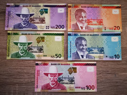 Namibie 10 To 200 Dollars 2015/2019 UNC - Namibia