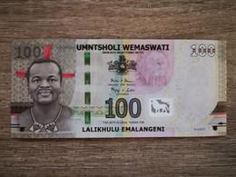 Suazilândia 100 Emalengeni 2017 UNC AA - Swaziland
