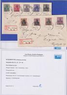 Saargebiet Mi.-Nr. 32-40 Auf 2 Sammler R-Briefen Aus Gersheim, Befund  Braun BPP - Settori Di Coordinazione