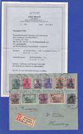Saargebiet Mi.-Nr. 32-42 (Nr. 36 Im PLATTENDRUCK !) Auf Brief, Attest Braun BPP - Settori Di Coordinazione