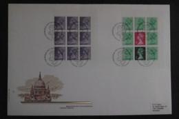 Großbritannien Mi. H Blatt 104 + 106 FDC ( Ca 26,5 X 18 Cm)  29.5.1981 - Selten - Booklets