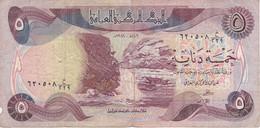 BILLETE DE IRAQ DE 5 DINARS DEL AÑO 1981 (BANK NOTE) - Iraq