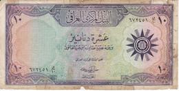 BILLETE DE IRAQ DE 10 DINARS DEL AÑO 1959 (BANK NOTE) - Iraq