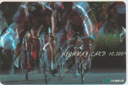 BICYCLE - JAPAN-419 - CYCLISME - VELO - PREPAID CARD - Deportes