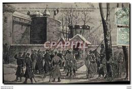 CPA Militaria Guerre De De 1870 Ham Sortie Des Troupes Allemandes Du Chateau - Other Wars