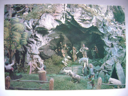 CRIB Nativity Krippe Créche - Old Figural Nativity Scene, Christmas Greeting Card - Posted 1989 - Unclassified