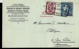 Carte Ville De Renaix Avec N° 429 Et Compl. Obl . RONSE 09/12/1939 Télégraphe - 1936-1951 Poortman