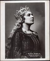 "Photo Originale - Circa 1960 - Elena Nicolai - ""Ortruda, Lohengrin""  - Aprox. 210x255mm - A1RR2 - Célébrités"