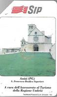 CARTE -ITALIE-Serie TURISTICA-Ref P184-Catalogue Golden-5000L/31/12/90-ASSISI--Utilisé-BE-RARE - Pubbliche Precursori