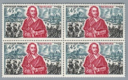 FRANCE 1970 - Yv 1655 / 1657 (Histoire De France) - Bloc De 4 Neuf** - Nuevos
