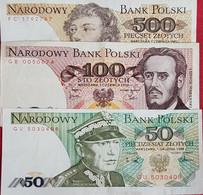 Lot 3 Billets Polski 500-100-50 Neuf - Poland