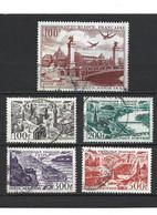 808 La Série Complète Poste Aérienne YT 24-25-26-27 + YT 28 Oblitérés - 1927-1959 Gebraucht