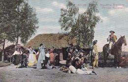 ARGENTINA. PERICON NACIONAL. GAUCHOS, VIDA DE CAMPO. CARTE POSTALE, CIRCULEE, ANNEE 1908.- LILHU - Argentine