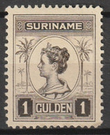 Suriname 1913-1926 Wilhelmina 1Gld  NVPH 101 Ongestempeld - Suriname ... - 1975
