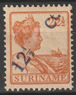Suriname 1926 Wilhelmina 12.5ct Op 22,5ct NVPH 115 Ongestempeld/MLH/* - Suriname ... - 1975