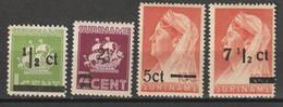 Suriname 1945 Hulpuitgiften  NVPH 210-213 MH/*ongestempeld - Suriname ... - 1975