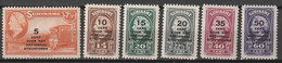 Suriname 1945 Steunfonds NVPH 214-219 MLH/*/ Ongestempeld - Suriname ... - 1975