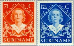 Suriname 1948 Inhuldiging Juliana - NVPH 276 Ongestempeld Met Plakker, MH*, Hinged See Description - Suriname ... - 1975