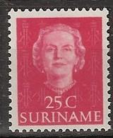 Suriname 1951 Koningin Juliana 25 Ct.  NVPH 288 Ongestempeld/MH/* - Surinam ... - 1975
