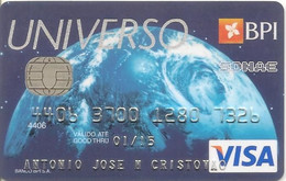 PORTUGAL - UNIVERSO - BPI - VISA (Galp/Continente) - Credit Cards (Exp. Date Min. 10 Years)