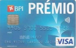 PORTUGAL - PRÉMIO - BPI - VISA - Credit Cards (Exp. Date Min. 10 Years)