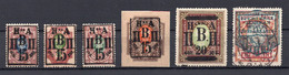 1919 RUSSIA, NA PVP, PRI BAYKAL GOVERNMENT, SET OF 6 STAMPS, MNH AND USED - Ungebraucht