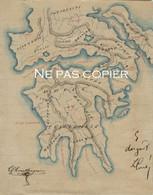 CARTE MACÉDOINE Vers 1930 Dessinée Par écolier - Geographical Maps