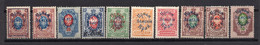1922  RUSSIA, PRIAMUR TERRITORY, GROUP OF 10 STAMPS, MH - Ungebraucht