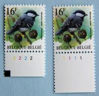 16 F  Mésange  N) De Pl.  1et 2 - 1985-.. Birds (Buzin)