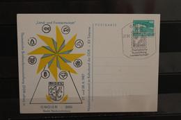 DDR 1987, Ganzsache Briefmarkenausstellung Gnoien - Privatpostkarten - Gebraucht
