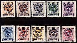 1918. Landstorm III. Wmk Wavy Lines. Complete Set. (10 V.) (Michel 115-124) - JF102036 - Unused Stamps