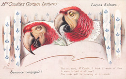 CPA FANTAISIE Leçons D'Alcove Mrs Caudle's Curtain Lectures Semonce Conjugale Illustrateur Illustration Raphael Tuck - Dressed Animals