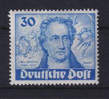 Berlin 1949 J. W. V. Goethe 30 Pf Dunkelultramarin Mi.-Nr. 63 Postfrisch ** - Ohne Zuordnung