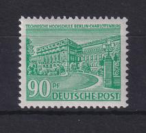 Berlin 1949 Berliner Bauten 90 Pf Lebhaftgrün Mi.-Nr. 56 Postfrisch ** - Ohne Zuordnung