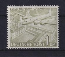 Berlin 1949 Berliner Bauten 1 DM Gelboliv Mi.-Nr. 57 Postfrisch ** - Ohne Zuordnung