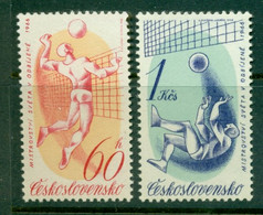 CZECHOSLOVAKIA 1966 Mi 1596-97** World Volleyball Championships [A6966] - Volleyball
