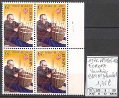 [857930]TB//**/Mnh-Belgique 1976 - N° 1805-PL1, Bd4, N° Planche 1, Vannier, Artisanat, Europa-Cept - 1971