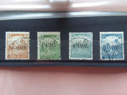 """TERRE REDENTE 1918/19 - FIUME - Varietà - 4 Valori Con Sovrastampa """"Fiume"""" Timbrati + Spese Postali - Fiume"""