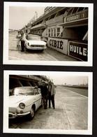 C1965 - 2 Photos 10 X 7 Cm - Circuit Du Mans - Voiture Renault Caravelle - Voir Scan - Auto's