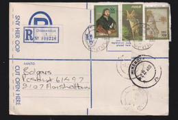 South West Africa, 91 Cents, Registered > S. Africa, OKAHANDJA 30 I   88, WINDHOEK  Transit, MARSHALLTOWN Arrival - South West Africa (1923-1990)