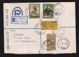 South West Africa, 91 Cents, Registered > S. Africa, ORANJEMUND 2 II 99,  MARSHALLTOWN Arrival - South West Africa (1923-1990)