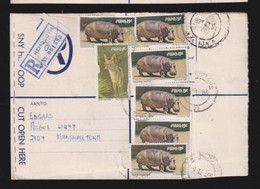 South West Africa, 91 Cents, Registered > S. Africa, REHOBOTH 4 II 88,  WINDHOEK Transit, MARSHALLTOWN Arrival - South West Africa (1923-1990)
