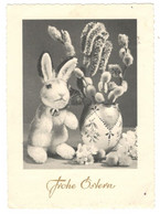 """Vintage Postcard Germany  """"Easter """" Used, Frohe Ostern Eggs Bunny Rabbit See Description AA - Easter"""